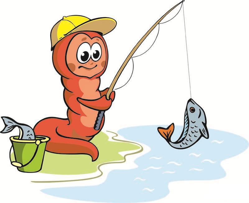 червь рыболов