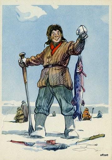 Картины открытки о рыбалке 69