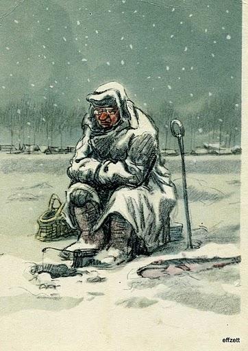 Рыболов зимой